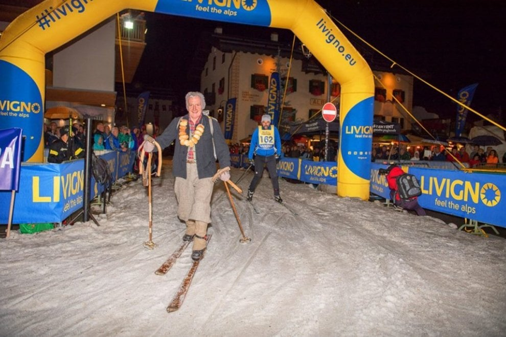 """Livigno: la gara di sci di fondo per il Palio delle Contrade è sulla neve """"conservata"""""""