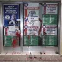Vernice rossa contro sede della Lega nel Bergamasco