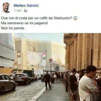 Salvini critica i patiti di Starbucks: