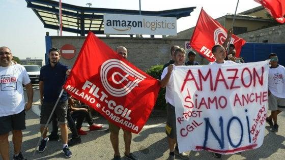 """Amazon: sciopero dei corrieri  lombardi, """"Carichi di lavoro insostenibili e ritmi frenetici"""""""