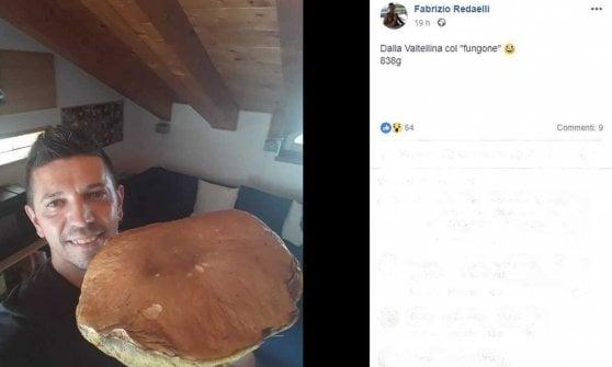"""Sondrio: il super-porcino """"star"""" su Facebook, tra like e tanta invidia"""
