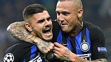 Partita la Champions Cuore Inter vince al 92'