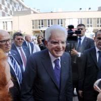 Il presidente Mattarella all'Istituto dei tumori: