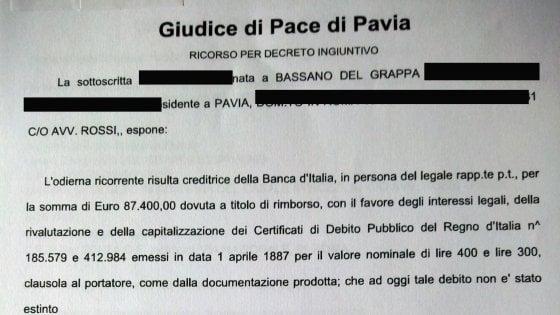 Pavia, a 109 anni chiede il conto alla Banca d