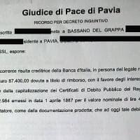 Pavia, a 109 anni chiede il conto alla Banca d'Italia: