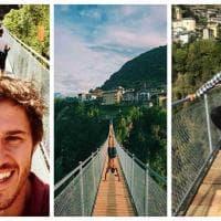 """Valtellina: appena inaugurato, il """"ponte nel cielo"""" vola già sui social"""