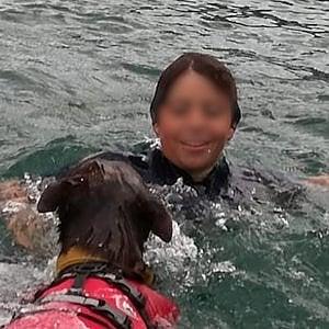 Lorenzo e Red: la traversata del Lago di Como nuotando contro il diabete