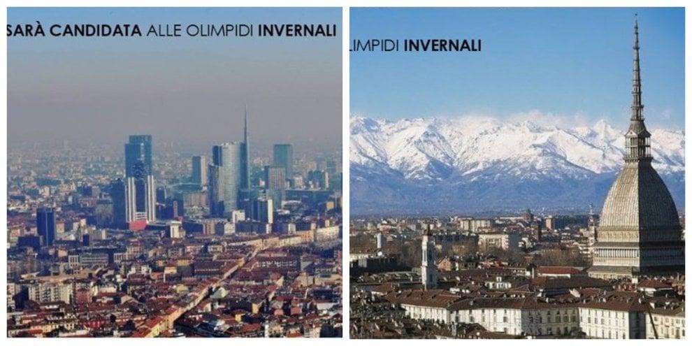 """Olimpiadi, orgoglio Milano contro il fotomontaggio di Appendino: """"Cara sindaca, eccole le montagne"""""""