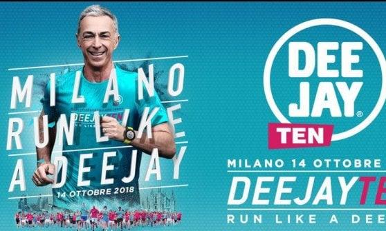 """""""Corri come un Deejay"""":  Milano mette le sneaker e si prepara alla Deejay Ten"""