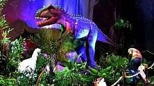 Trenta dinosauri rivivono nella giungla preistorica della Fabbrica del Vapore