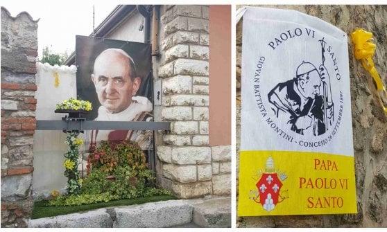 """Paolo VI santo: Concesio festeggia il """"suo"""" papa"""