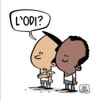 Lodi, discriminazioni a scuola: sui social ironia e solidarietà nelle vignette d'autore