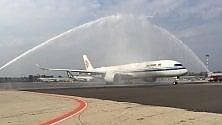 """La Cina sceglie l'Italia  per la """"prima"""" del nuovo  Airbus: festa a Malpensa"""