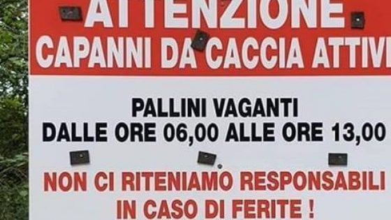 """""""Pallini vaganti dalle 6 alle 13, non rispondiamo di ferimenti"""": polemica a Bergamo per i cartelli dei cacciatori"""