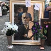 Buccinasco, quadro che inneggia a Mussolini al mercatino delle pulci: ambulante