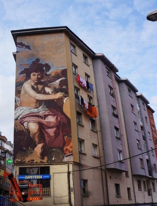Un Velazquez alto 5 piani, lo street artist si confronta con il capolavoro del Prado