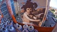 Un Velazquez alto  5 piani, lo street artist  si confronta col  capolavoro del Prado
