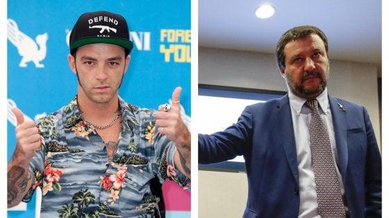 Milano, il rapper e Salvini: la polemica corre sui social