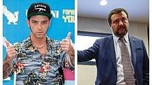 Il rapper Salmo e Salvini: la polemica è tutta social