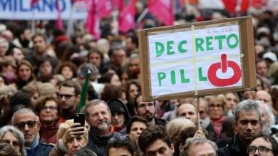 """""""No alla riforma Pillon"""", il grido della piazza contro le nuove regole della separazione"""