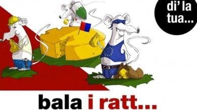 Manifesti razzisti in Canton Ticino: gli italiani come topi nel formaggio (svizzero)
