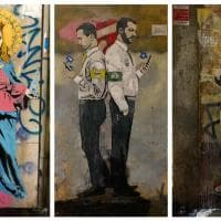 Street art a Milano, guerra social Salvini-Di Maio, i Ferragnez e il 'bronzo' Ronaldo: Tvboy torna a colpire