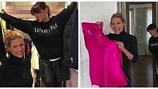 Michelle Hunziker svuota l'armadio: abiti all'asta per beneficenza