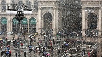 Maltempo, ciclone invernale sulla Lombardia: a Milano arriva la neve