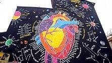 Il maxi-murale col cuore e l'energia delle 7 note alla Milano Music Week