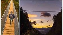 15000 fotogrammi    per raccontare il Ponte Tibetano: le immagini sono davvero un sogno
