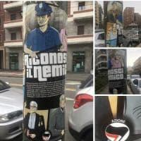 Milano, adesivi di Azione antifascista contro poliziotti, magistrati e giornalisti: