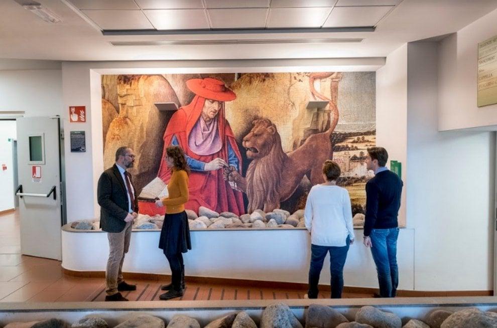 """Bergamo, da Hayez a Canaletto e Raffaello: 400 metri quadrati d'arte in formato """"maxi"""""""