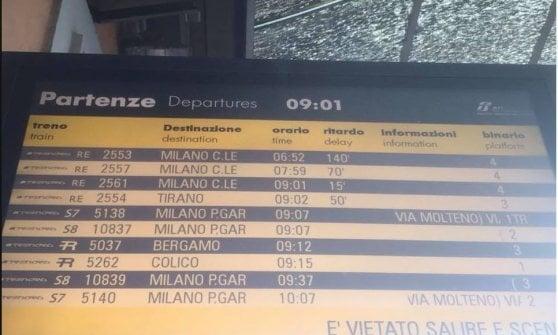"""Nuova odissea sui binari della Milano-Lecco, il sindaco-pendolare: """"Chiudete Trenord"""""""