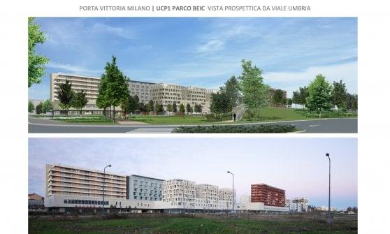 Milano, due nuovi parchi da 40mila metri quadri per il rilancio di Porta Vittoria