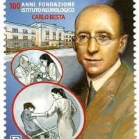 Milano, un francobollo per i 100 anni dell'istituto neurologico Besta