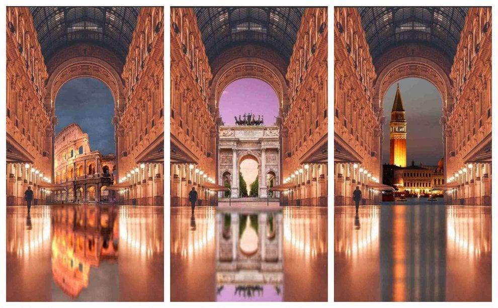 Milano, la Galleria si affaccia sul mondo: su Twitter il gioco dei fotomontaggi
