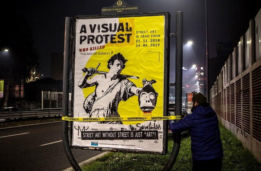 La street art è morta? La provocazione contro la mostra su Banksy per le strade di Milano
