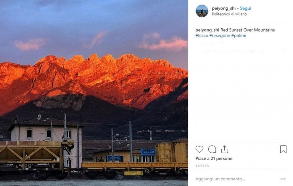 Lecco: il tramonto sul Resegone dà spettacolo su Instagram