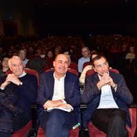 Primarie Pd, Nicola Zingaretti fa tappa a Milano: Sala e Pisapia in platea ad ascoltarlo