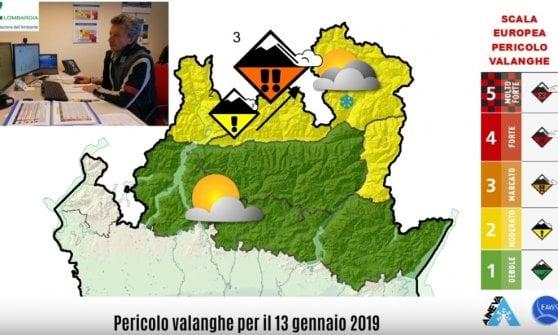 Rischio valanghe in Valtellina: vietati fuori pista e ciaspolate