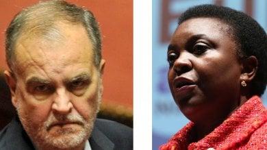 """Insulti a Kyenge, Calderoli condannato  a 18 mesi. Il tribunale: """"Aggravante razziale"""""""
