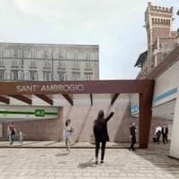 Vetrate e scalinata scenografiche per la nuova fermata Sant'Ambrogio: il