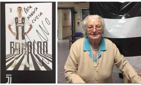 Brescia: tifosa 97enne scrive a Cristiano Ronaldo dalla casa di riposo, riceve cartolina e dedica