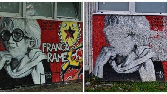 Vernice Bianca E Croce Celtica Imbrattato A Milano Il Murale Per
