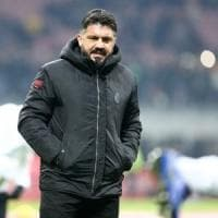 Milan, Gattuso: ''Siamo a un bivio, vietato rilassarsi. Donne e calcio? Mia moglie fa la formazione...''