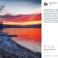 Sul lago Maggiore il tramonto più bello, su Instagram gli scatti del cielo infuocato
