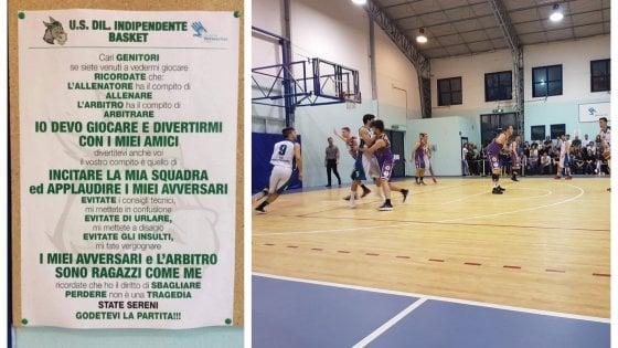 """""""Cari genitori, non insultate avversari e arbitro: mi fate vergognare"""": le regole del tifo positivo del basket ad Appiano"""