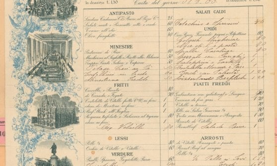 Cosa si mangiava da Biffi in Galleria nel 1905? Torna il menù storico del ristorante