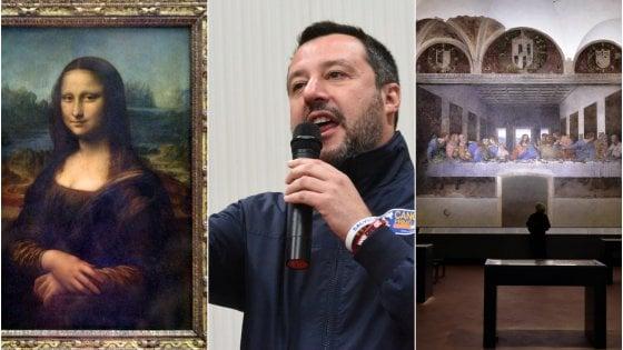 """""""L'Ultima cena? Mai vista"""". Salvini scherza sulle celebrazioni di Leonardo: """"Ci riprendiamo la Gioconda"""""""
