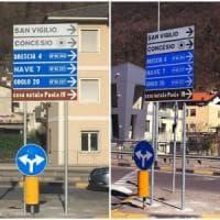 Il Papa sbagliato sul cartello stradale: corretto l'errore a Brescia